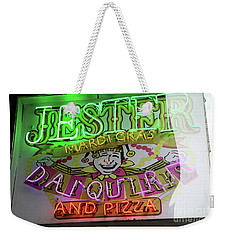 Jester Mardi Gras Sign Weekender Tote Bag