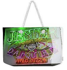 Jester Mardi Gras Sign Weekender Tote Bag by Steven Spak