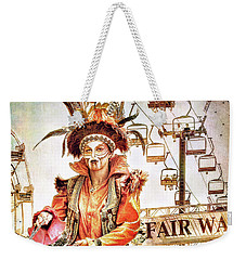 Weekender Tote Bag featuring the photograph Jester Of The Fair by Jennie Breeze