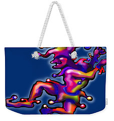 Jester On Blue Weekender Tote Bag by Kevin Middleton