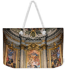 Weekender Tote Bag featuring the photograph Jesuit Church Rome Italy by Joan Carroll