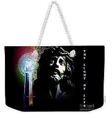 Jesus Christ The Light Of Life Weekender Tote Bag by Annie Zeno