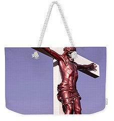 Weekender Tote Bag featuring the photograph Jesus Crucifix Against The Sky 2 by Gary Whitton
