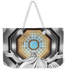 Jesus Halo Weekender Tote Bag by Mark Dodd