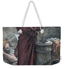 Jesus In Prison Weekender Tote Bag by Tissot