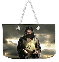 Jesus In The Clouds With Radiant Power Weekender Tote Bag