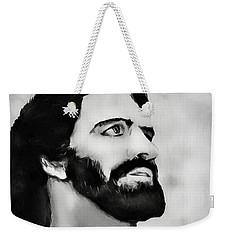 Weekender Tote Bag featuring the digital art Jesus by Pennie  McCracken