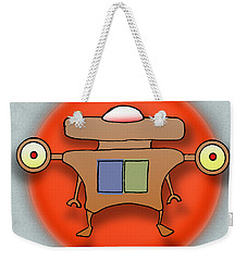 Weekender Tote Bag featuring the drawing Jet Paq by Uncle J's Monsters