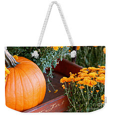 Jet Pumpkin Weekender Tote Bag by Cathy Dee Janes