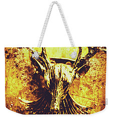 Jewel Deer Head Art Weekender Tote Bag