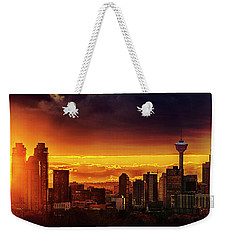 Weekender Tote Bag featuring the photograph Jewel Of The Foothills by John Poon