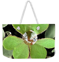 Jeweled Clover Weekender Tote Bag