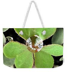 Jeweled Clover Weekender Tote Bag by Lorella Schoales