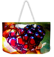 Weekender Tote Bag featuring the painting Jeweled Heart In Light And Dark by Genevieve Esson