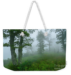 Weekender Tote Bag featuring the photograph Jewell Hollow Overlook by Thomas R Fletcher
