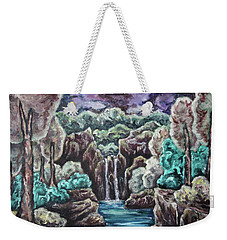 Weekender Tote Bag featuring the painting Jewels Of The Valley by Cheryl Pettigrew