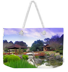 Weekender Tote Bag featuring the photograph Jg-0021 Kotaji Lantern by Digital Oil