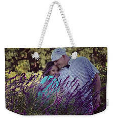Jill Purple Weekender Tote Bag