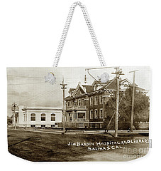 Jim Bardin Hospital The Hospital Was Located On The E Side Of Main Street  Circa 1910 Weekender Tote Bag
