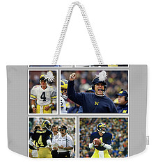 Jim Harbaugh A Michigan Man Weekender Tote Bag by John Farr