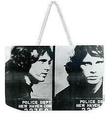Jim Morrison Mug Shot Horizontal Weekender Tote Bag
