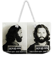 Jim Morrison Mugshot Weekender Tote Bag