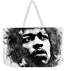 Jimi Hendrix Bw Portrait Weekender Tote Bag