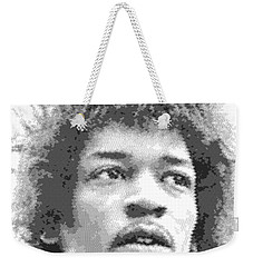 Jimi Hendrix - Cross Hatching Weekender Tote Bag