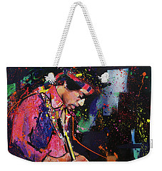 Jimi Hendrix II Weekender Tote Bag by Richard Day