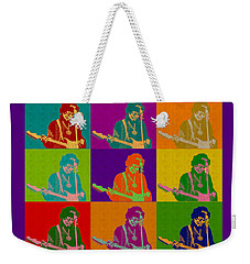 Jimi Hendrix In The Style Of Andy Warhol Weekender Tote Bag