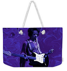 Weekender Tote Bag featuring the painting Jimi Hendrix Purple Haze P D P by David Dehner