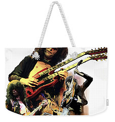 Jimmy Page  Echoes Of Pompeii Weekender Tote Bag by Iconic Images Art Gallery David Pucciarelli
