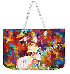 Jimmy Page Jamming Weekender Tote Bag by Dan Sproul