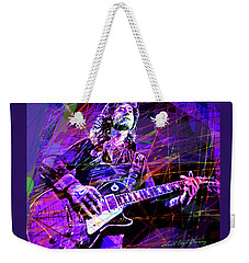 Jimmy Page Solos Weekender Tote Bag by David Lloyd Glover