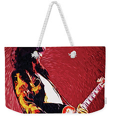 Jimmy Page  Weekender Tote Bag by Taylan Apukovska