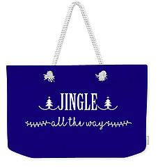 Jingle All The Way Weekender Tote Bag by Heidi Hermes
