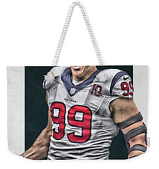Jj Watt Houston Texans Art 1 Weekender Tote Bag
