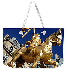 Weekender Tote Bag featuring the photograph Joan Of Arc - Paris by Therese Alcorn