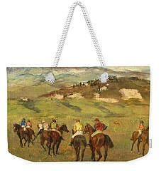 Jockeys On Horseback Before Distant Hills Weekender Tote Bag