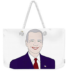 Joe Biden Weekender Tote Bag by Priscilla Wolfe