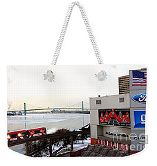 Weekender Tote Bag featuring the photograph Joe Louis Arena by Michael Rucker