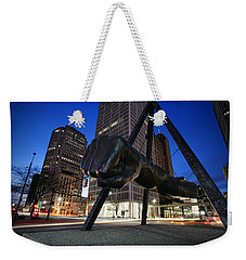 Joe Louis Fist Statue Jefferson And Woodward Ave. Detroit Michigan Weekender Tote Bag