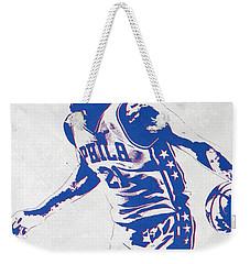 Joel Embiid Philadelphia Sixers Pixel Art Weekender Tote Bag