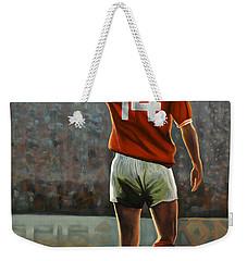 Johan Cruyff Oranje Nr 14 Weekender Tote Bag by Paul Meijering