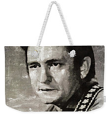 Johhny Cash Portrait Weekender Tote Bag