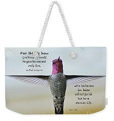 John 3 V 16 Weekender Tote Bag