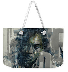 Weekender Tote Bag featuring the mixed media John Coltrane  by Paul Lovering