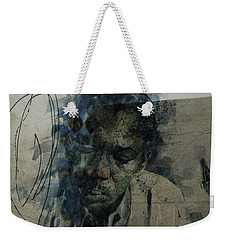 Weekender Tote Bag featuring the mixed media John Coltrane / Retro by Paul Lovering
