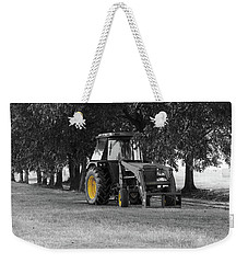 Weekender Tote Bag featuring the photograph John Deere 620 In Selective Color by Doug Camara