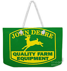 John Deere Farm Equipment Sign Weekender Tote Bag